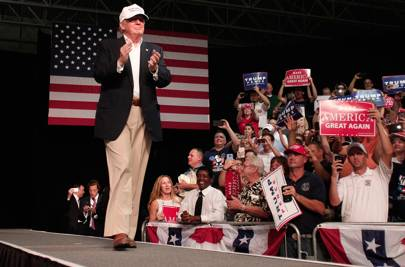 August 2016: Trump reaches out to black voters in Michigan