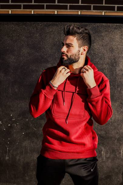 Ruby Red Hoodie by Urban Kangster