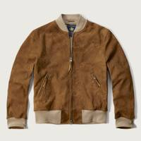 Abercrombie & Fitch suede bomber