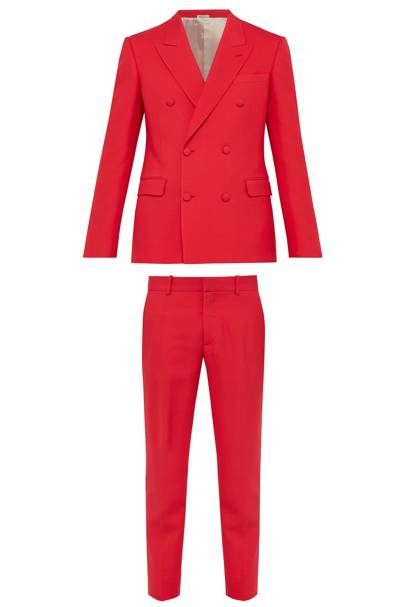 Double-breasted suit by Alexander McQueen