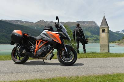 The KTM 1290 Super Duke GT is pure adrenaline on two wheels