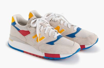 New Balance for J Crew 998 Beach Ball sneakers