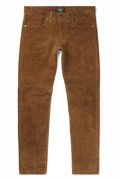 Alaskan suede trousers by RRL