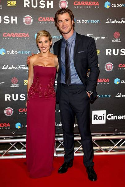 Pure romance at the premiere of Rush