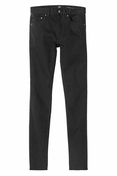 David Beckham H&M Modern Essentials black straight jeans