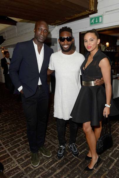 Ozwald Boateng, Tinie Tempah and Louise Hazel