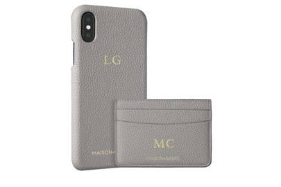Mercury Grey iPhone X Case and Credit Card Holder by MAISON de SABRÈ