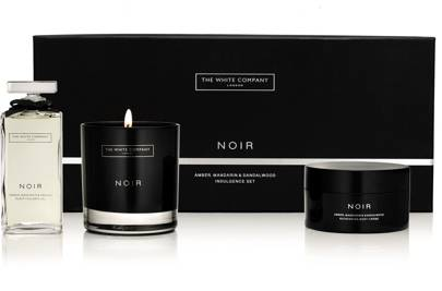 The White Company's Noir 3-wick candle