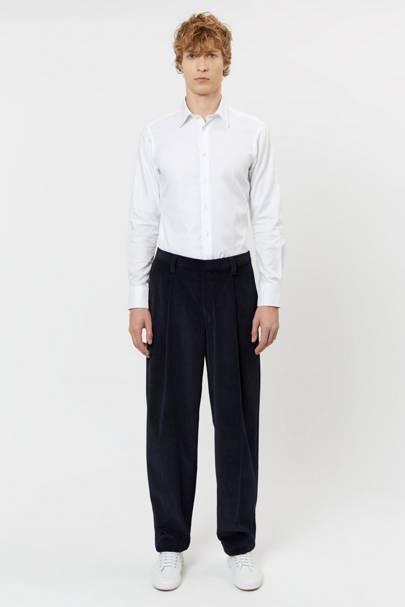 E Tautz corduroy pleated trousers