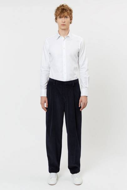 E Tautz corduroy pleated trousers