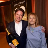 Jamie Oliver and Ruthie Rogers, winner of the Lifetime Achievement award