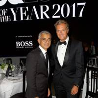 Sadiq Khan and Stephan Born, UK Managing Director, Hugo Boss
