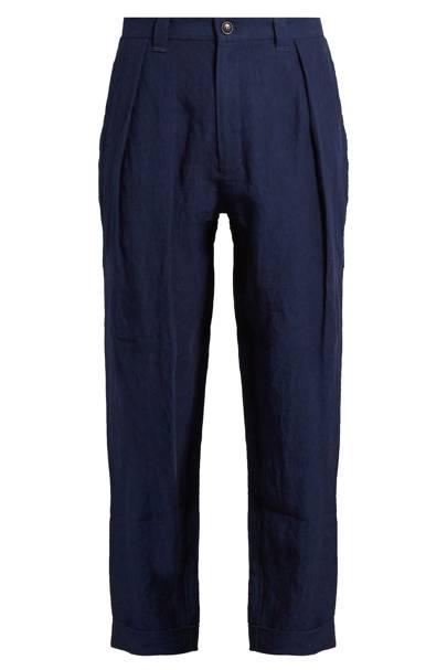 Blue Blue Japan straight-leg linen trousers