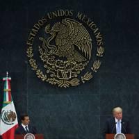 September 2016: Trump travels to Mexico to meet President Enrique Peña Nieto