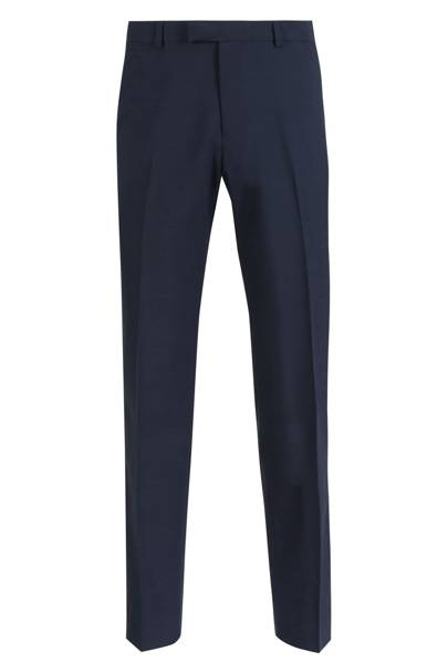 M&S Indigo tailored fit trousers