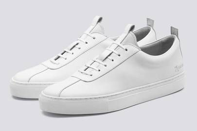 20. A pair of white tennis shoes