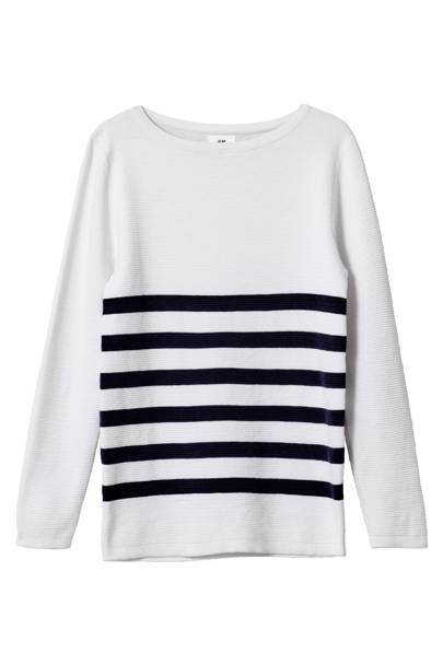 David Beckham H&M Modern Essentials striped jumper