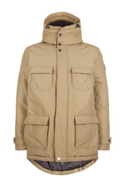 Down padded parka coat by Armani EA7