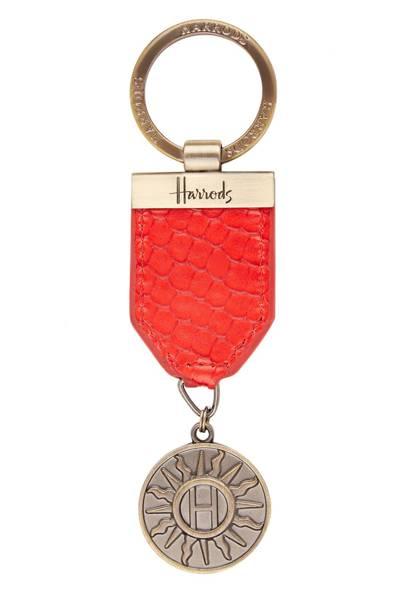 Harrods Sunburst Medal Keyring