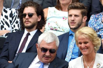 Kit Harington and Adam Lallana