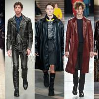2. Layer-up in leather (and lots of it)