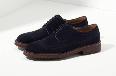 Massimo Dutti navy suede brogues