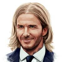 David Beckham – the beachy centre parting