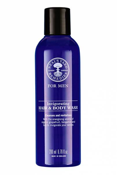 The bodywash: Invigorating Hair & Body Wash by Neal's Yard