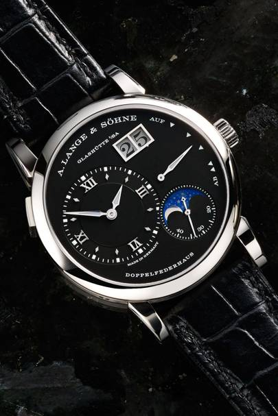Lange 1 Moonphase in white gold by A Lange & Söhne