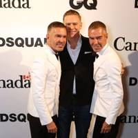 Bryan Adams with Dean and Dan Caten