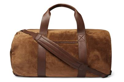 Suede And Full-Grain Leather Holdall by Brunello Cucinelli