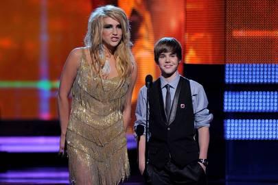 2010: Kesha and Justin Bieber