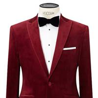 John Lewis peak lapel velvet dinner jacket