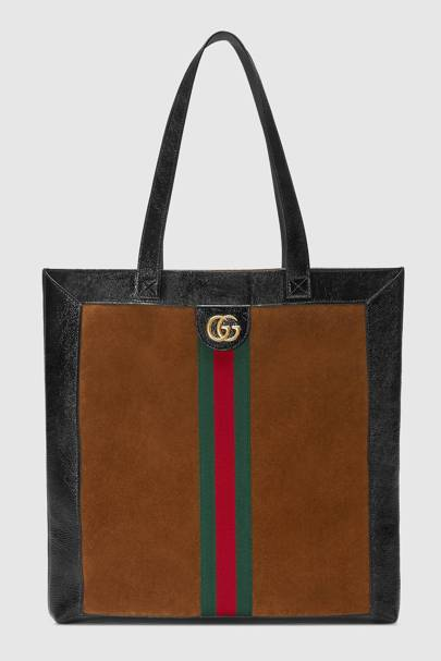 Ophidia suede tote large by Gucci