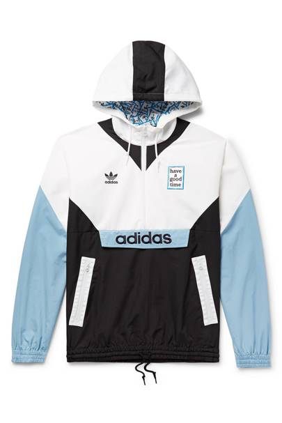 Logo-Embroidered nylon jacket by Adidas Consortium