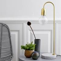 Marble Brass Table Lamp by Bloomingville