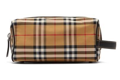 Burberry Vintage Check Nylon Wash Bag