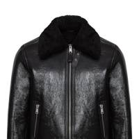 Broxburn shearling aviator jacket by Reiss