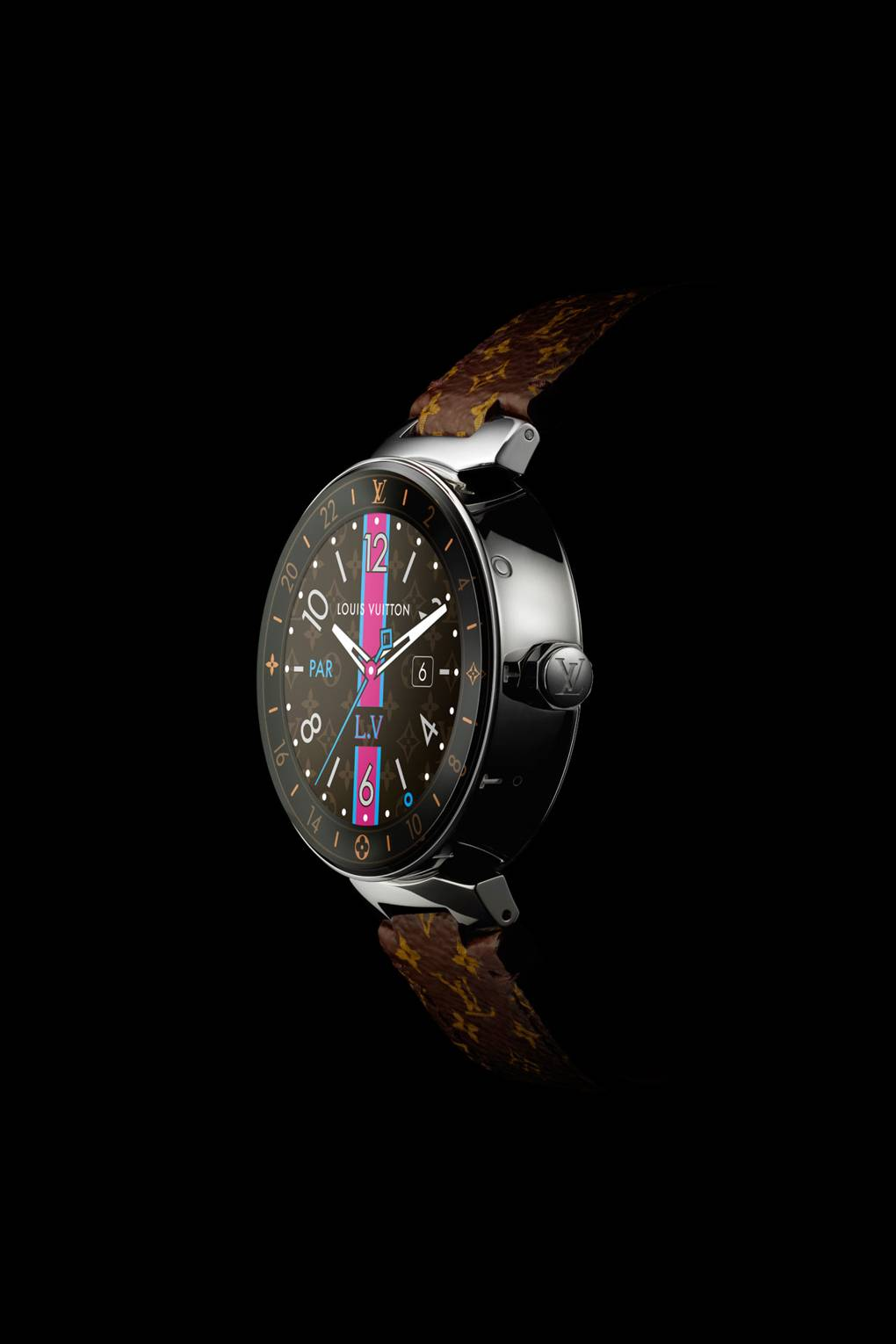 8dc13898338f Louis Vuitton Horizon smart watch adds connectivity to the Tambour Moon  line