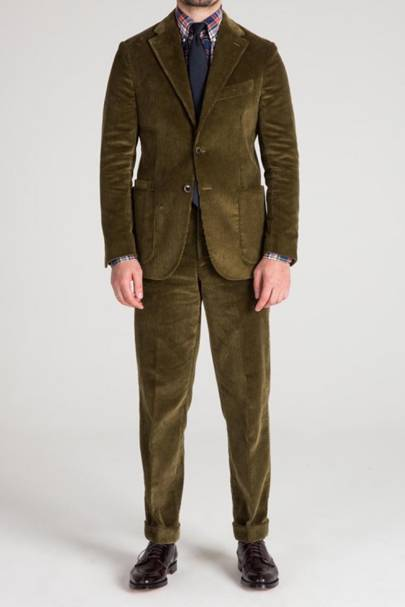 Drake's 'Easyday' green corduroy suit