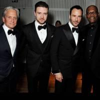 Michael Douglas, Justin Timberlake, Tom Ford & Samuel L Jackson