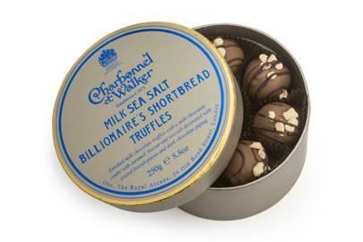Charbonnel Et Walker sea salt billionaire's shortbread truffles