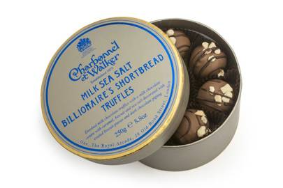 Charbonnel Et Walker sea salt billionaire's shortbread truffles