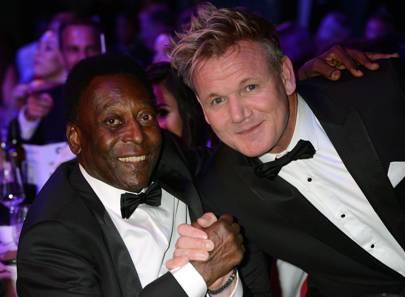 Pelé and Gordon Ramsay