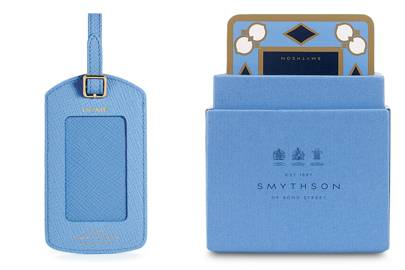 Luggage Tag and Travel Games by Smythson