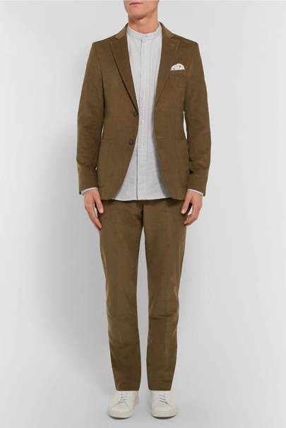 Officine Generale cotton-corduroy suit