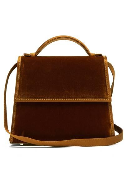 Hunting Season top handle mini velvet bag