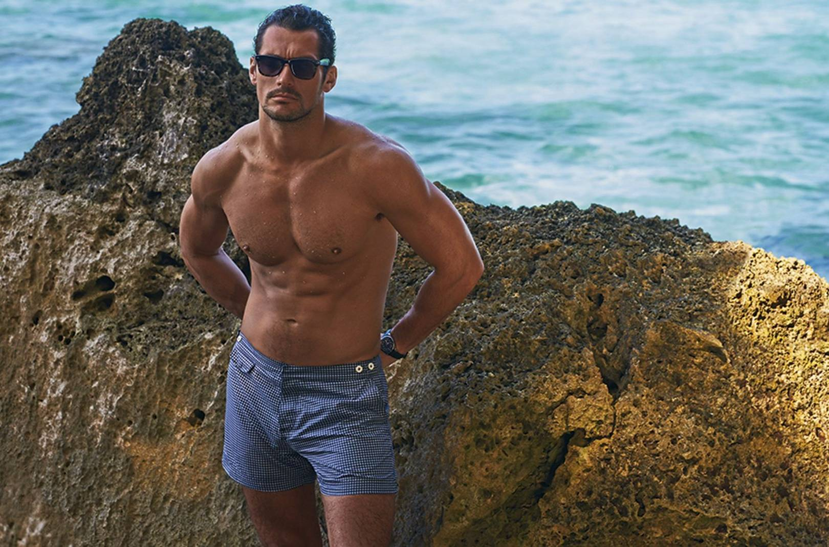 80b3996d99505 Get a first look at David Gandy's swimwear range for M&S; | British GQ