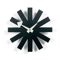 Asterisk Black Wall Clock by Vitra