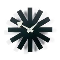 Asterisk Black Wall Clock by Vitra